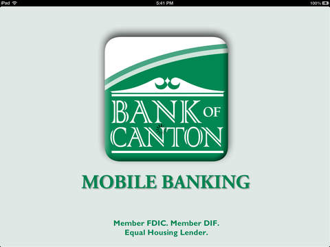 Bank of Canton Mobile Banking for iPad