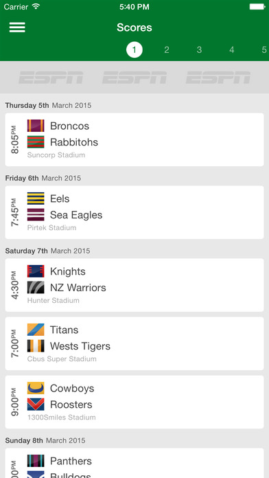 NRL Live Scores League Now iPhone Screenshot 5