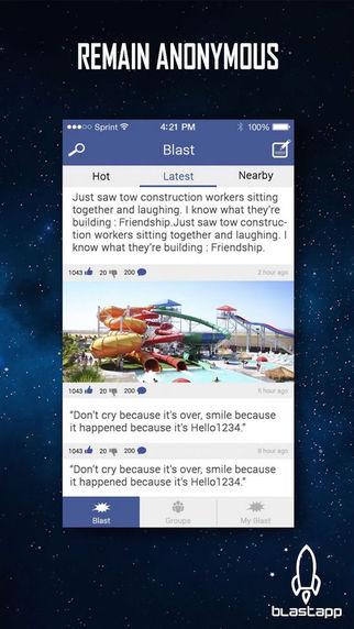 Blastapp - Anonymous social chatter
