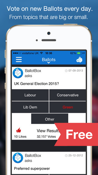 BallotBox Lite - Opinion Polling and Election Vote 2015