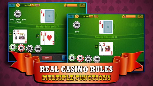 US Blackjack 21 - Train Your Casino Game and Blackjack Skill for FREE