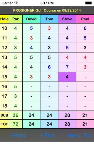 myGolfCard Lite - The Simplest Golf Scorecard iPhone Screenshot 1