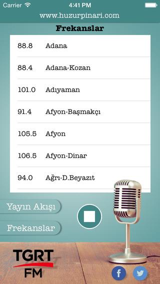 Tgrt FM iPhone Screenshot 2