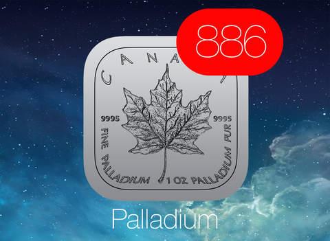 【免費財經App】Palladium Price Watch - live spot price on a troy ounce bullion coin icon /w charts, push notifications, custom alerts and more ...-APP點子