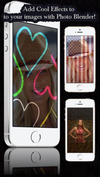 Photo Blender - Create Amazing Images Share on Instagram Twitter Facebook Snapchat Other Social Apps
