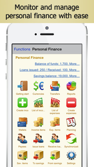 Personal Finance PRO - Family Budget Home Accounting and Financial Analysis Revenue Expenditure