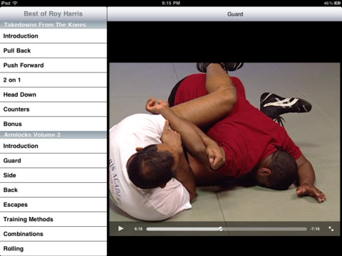 Best of Roy Harris Brazilian Jiu Jitsu iPad Screenshot 1