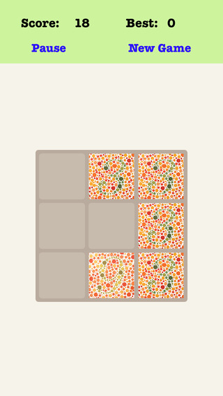 Color Blind Treble 3X3 - Sliding Number Tiles Playing The Piano