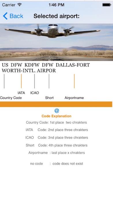 flight codes iPhone Screenshot 5