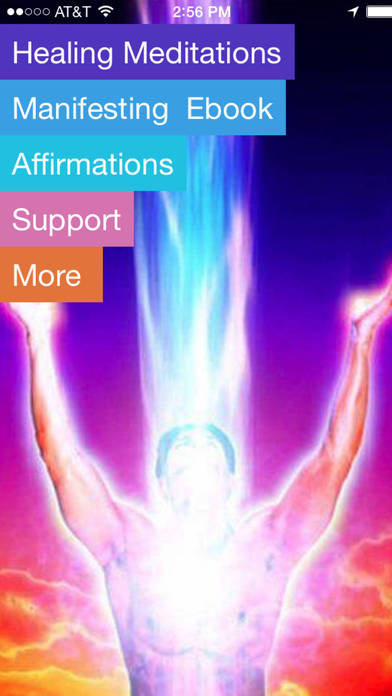 Guided Meditation for Healing the Body, Mind and Soul!-Jafree Ozwald iPhone Screenshot 1