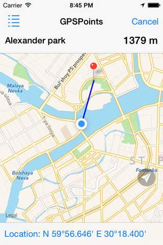 GPSPoints Navigator screenshot 1