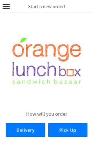 Orange Lunch Box