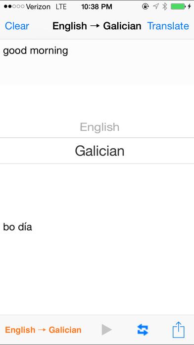 English Galician Translator iPhone Screenshot 1
