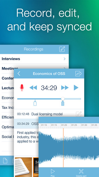 eXtra Voice Recorder: record edit take notes and sync with Dropbox Perfect for lectures or meetings