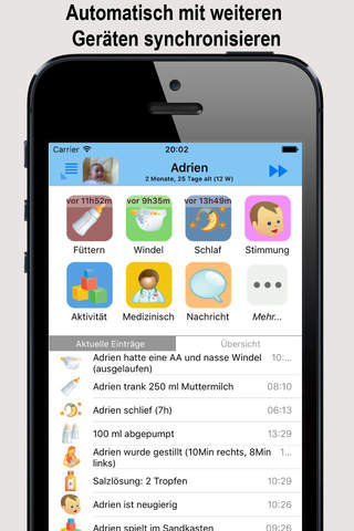 Baby Connect (Activity Log) screenshot 1