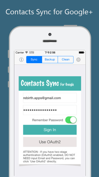 Contacts Sync with Google Account Free - backgroun