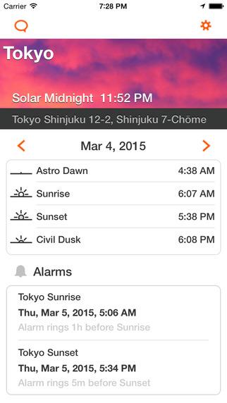 Sunrise Sunset Alarm