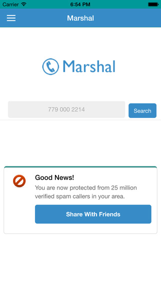 Marshal App Protect you from Spam and Scam