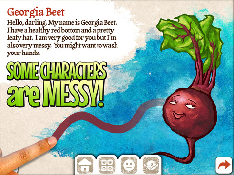 Veggie Bottoms Lite for iPad Makes Learning About Fruits and Vegetables Fun for Kids
