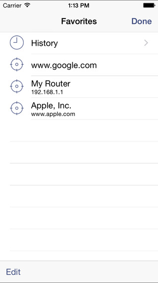 Ping Analyzer - Graphical Network Ping iPhone Screenshot 2