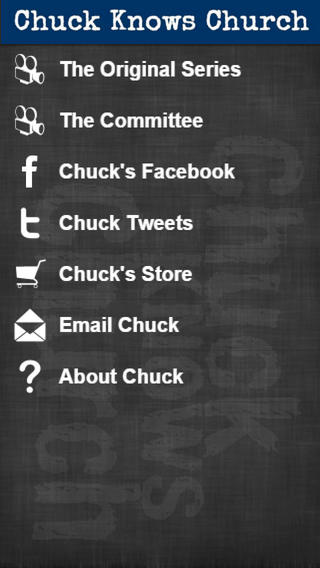 Chuck Knows Church app