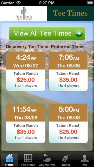 Tatum Ranch Golf Club Tee Times