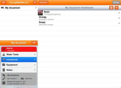 aquaPlanner iPad Screenshot 2