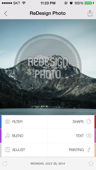 Redesign Photo - 图片编辑应用[iPhone]丨反斗限免