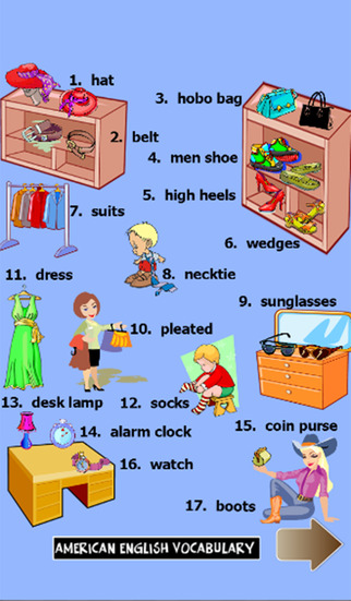 American english vocabulary