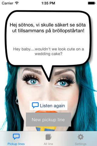 Swedish pickup lines screenshot 1
