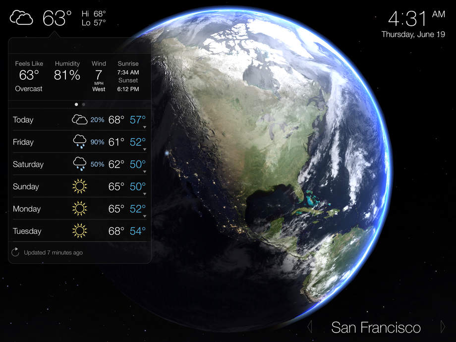 Living Earth - Clock & Weather - iPhone Mobile Analytics and App Store Data
