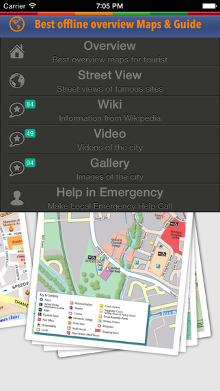 Oxford City Tour Guide: offline map emergency help