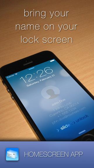 Homescreen - bring your name to your lockscreen