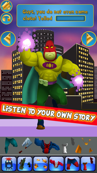 Create My Own Interactive Action Superheroes And Super Villains Story Books Advert Free Game
