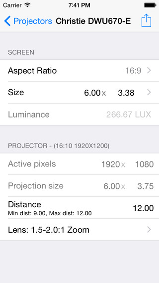 Projectionist iPhone Screenshot 2