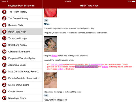 Physical Exam Essentials iPad Screenshot 3