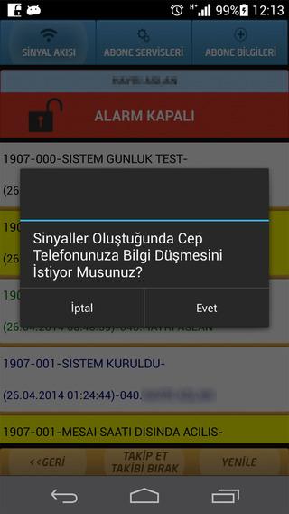 Forte Alarm Sinyal Takibi