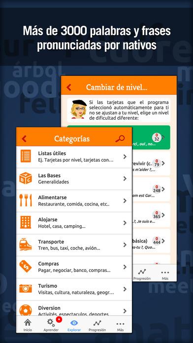 MosaLingua Francés: Aprender Francés rápidamente (Español ► Francés) iPhone Screenshot 4
