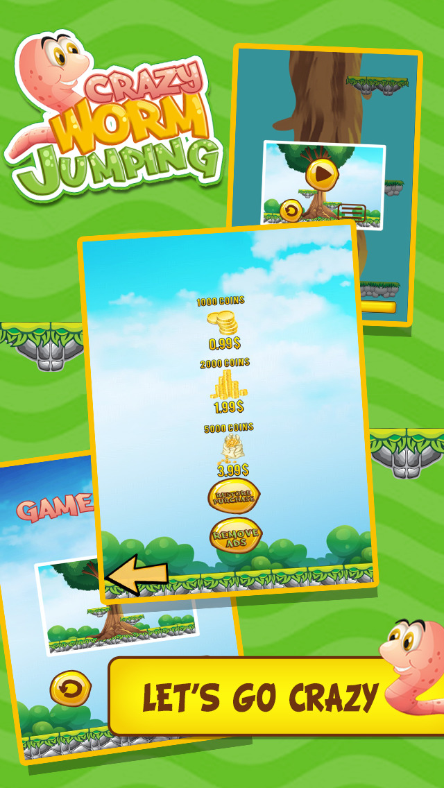 App Shopper: Crazy Worm Jump (Games)