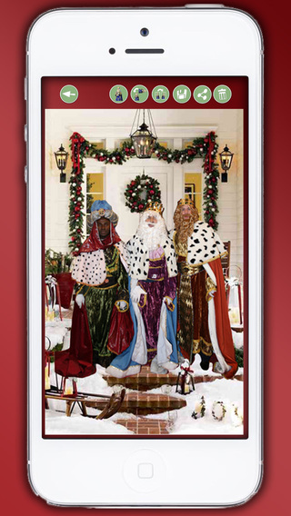 Your photo with the three wise men