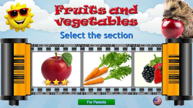 Fruits and Vegetables for Kids - Learning Cards