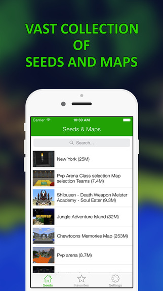 Seeds Maps for Minecraft PE PC Lite