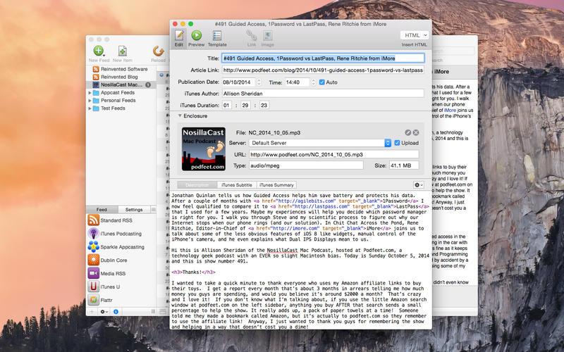 Feeder for Mac 3.4.6 破解版 - 创建和发布的RSS