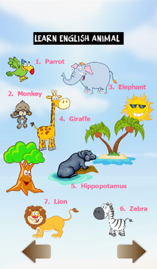 Learn english animal
