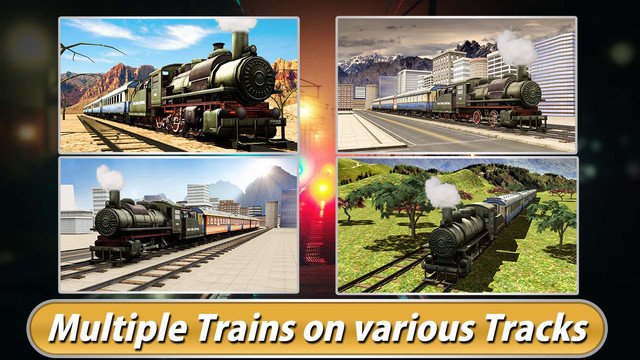 Real Train Driving Simulator 3D - Express Rail Driver Parking Simulation Game
