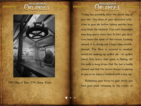 Gamebook Adventures 1: An Assassin in Orlandes iPad Screenshot 1