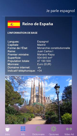 Je Parle ESPAGNOL - Audio Dictionnaire Français Espagnol GRATUIT - Traduction cours pour débutants