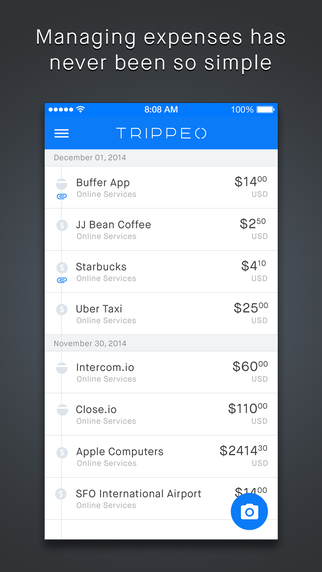 Trippeo - Fast and Easy Expense Tracking and Expense Reports