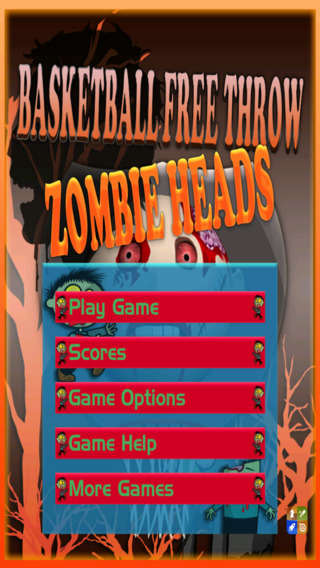 Basketball Free Throw: Cool Zombie Heads Free