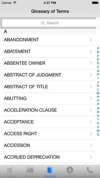 Real Estate Broker Exam High Score Kit iPhone Screenshot 1